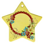 Floral/mother- star ornament - Ornament (Star)