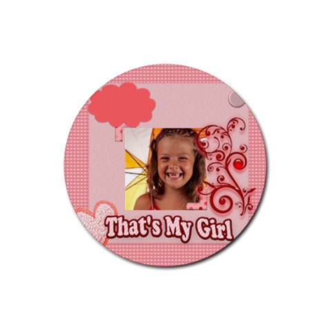 This Is My Girl By Joely   Rubber Coaster (round)   A4z26jcsn9m9   Www Artscow Com Front