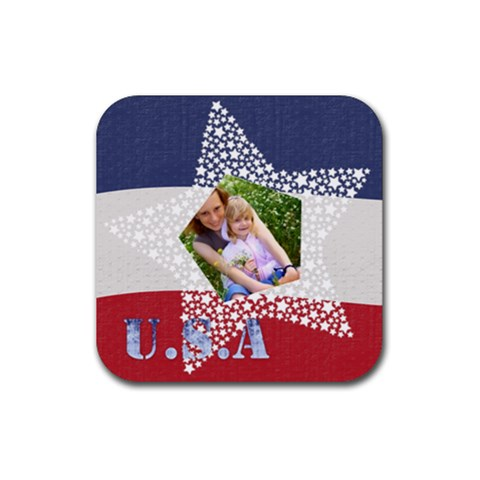 Usa By Joely   Rubber Coaster (square)   S6lxu8ibpknk   Www Artscow Com Front