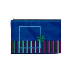 Sumers Burst Medium Cosmetic Bag 1 By Lisa Minor   Cosmetic Bag (medium)   Af5564cf30sd   Www Artscow Com Front