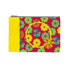 Summers Burst Large Cosmetic Bag 1 By Lisa Minor   Cosmetic Bag (large)   1kwr0986qpg6   Www Artscow Com Front