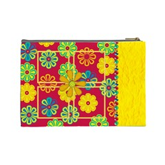 Summers Burst Large Cosmetic Bag 1 By Lisa Minor   Cosmetic Bag (large)   1kwr0986qpg6   Www Artscow Com Back