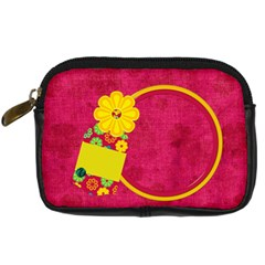 Summers Burst Camera Bag 1 By Lisa Minor   Digital Camera Leather Case   2z0mlcd10m7t   Www Artscow Com Front