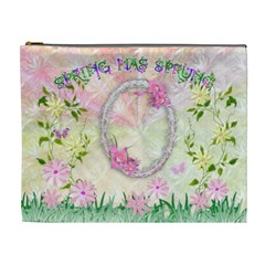 Spring Flower Floral Xl Cosmetic Bag By Ellan   Cosmetic Bag (xl)   O7k4i7qxuhj3   Www Artscow Com Front