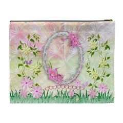 Spring Flower Floral Xl Cosmetic Bag By Ellan   Cosmetic Bag (xl)   O7k4i7qxuhj3   Www Artscow Com Back