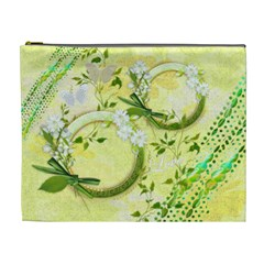 Spring Flower Floral Yellow Xl Cosmetic Bag By Ellan   Cosmetic Bag (xl)   Ohyx7kv0yf7j   Www Artscow Com Front