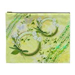 Spring flower floral yellow XL Cosmetic Bag - Cosmetic Bag (XL)
