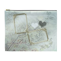 Wedding Love White Xl Cosmetic Bag By Ellan   Cosmetic Bag (xl)   Zo5vopshilw1   Www Artscow Com Front