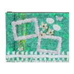 Spring flower floral aqua XL Cosmetic Bag - Cosmetic Bag (XL)