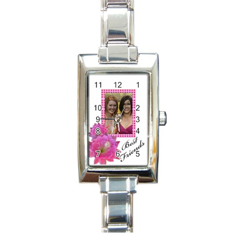 Best Friends By Deborah   Rectangle Italian Charm Watch   Mtpqwwwihnp1   Www Artscow Com Front