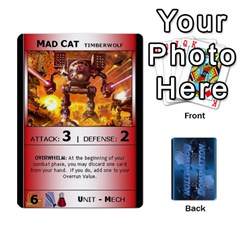 Battletech 2 By Jay Waschak   Playing Cards 54 Designs   Sydlp2hj785m   Www Artscow Com Front - Spade3