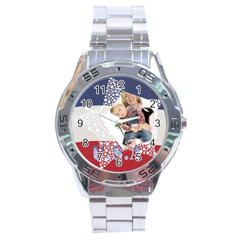 Usa By Joely   Stainless Steel Analogue Watch   0sqsgw6i3vdi   Www Artscow Com Front