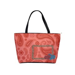 Red Paisley Tote Bag Warm Fuzzy By Redhead Scraps   Classic Shoulder Handbag   9ncpipr6k285   Www Artscow Com Front