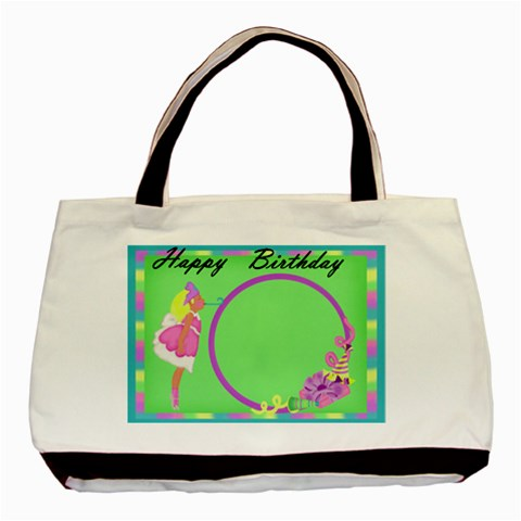 Birthday Bag By Jaimie Lanier   Basic Tote Bag   N8m5l7mdf5v7   Www Artscow Com Front