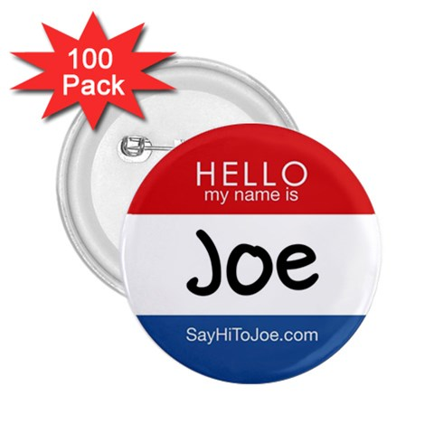 National  say  hi  To Joe  Day Buttons    2 25 Inch   100pk By Joe American   2 25  Button (100 Pack)   Jjie55rvs8qj   Www Artscow Com Front