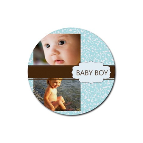 Baby Boy By Joely   Rubber Coaster (round)   Iu44wuxask6m   Www Artscow Com Front