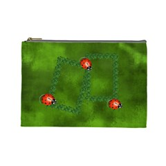 Lucky Cosmetic Bag (l) By Elena Petrova   Cosmetic Bag (large)   Jpsrjgf8xdhp   Www Artscow Com Front