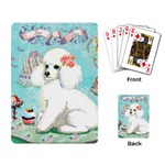 Whte Poodle Cakes Cupcake  Playing Cards Single Design