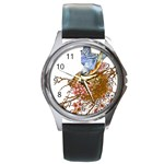 Bluebird and Nest Round Metal Watch