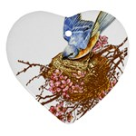Bluebird and Nest Ornament (Heart)