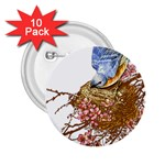 Bluebird and Nest 2.25  Button (10 pack)
