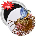 Bluebird and Nest 3  Magnet (100 pack)