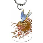 Bluebird and Nest Dog Tag (Two Sides)
