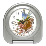 Bluebird and Nest Travel Alarm Clock