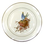 Bluebird and Nest Porcelain Plate