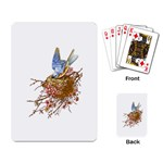 Bluebird and Nest Playing Cards Single Design