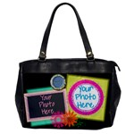 Hapiness Is... Oversize Bucket Bag - Oversize Office Handbag (One Side)