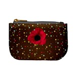 Polka Dot Poppy Coin Purse - Mini Coin Purse