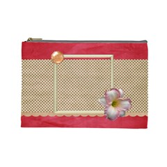 Gaze Large Cosmetic Bag 1 By Lisa Minor   Cosmetic Bag (large)   Sma1lz8mlztf   Www Artscow Com Front
