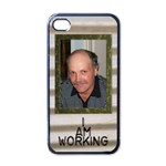 Working Man s Iphone 4 skin - Apple iPhone 4 Case (Black)