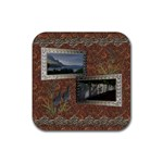 shadow frame square rubber coaster - Rubber Coaster (Square)