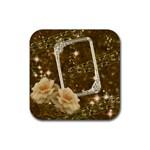 Rose gold2 square rubber coaster - Rubber Coaster (Square)
