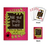 Polka Dot Poppy Spring Flower Leaf Playing Cards - Playing Cards Single Design