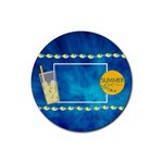 Summers Burst Round 4pk Coaster Set 1 - Rubber Round Coaster (4 pack)