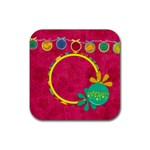 Summers Burst Coaster Set 2 - Rubber Square Coaster (4 pack)