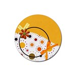 Tangerine Breeze 4pk Round Coaster Set 1 - Rubber Round Coaster (4 pack)