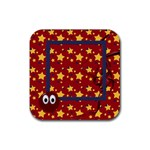 Primary Cardboard 4pk Coaster 1 - Rubber Square Coaster (4 pack)
