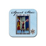 Sport Star Coaster - Rubber Coaster (Square)