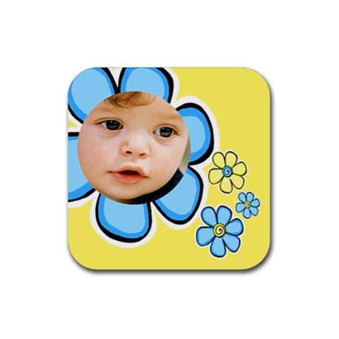 Little Boy Coaster By Deborah   Rubber Coaster (square)   Dbxhgrhmbc99   Www Artscow Com Front