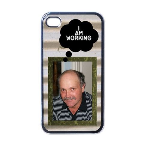 I m Workin Iphone 4 Skin By Deborah   Apple Iphone 4 Case (black)   75eifluaw90h   Www Artscow Com Front