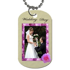Wedding Day Tags (2 Sides) By Deborah   Dog Tag (two Sides)   Cs6mncb0wt4f   Www Artscow Com Front