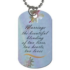 Wedding Day Tags (2 Sides) By Deborah   Dog Tag (two Sides)   Cs6mncb0wt4f   Www Artscow Com Back