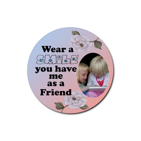 Smile Round Coaster By Deborah   Rubber Coaster (round)   Rdwwrkii00i7   Www Artscow Com Front