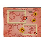 sunflower-ladybug cosmetic bag (XL)