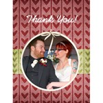 Wedding Thank You Card - Greeting Card 4.5  x 6