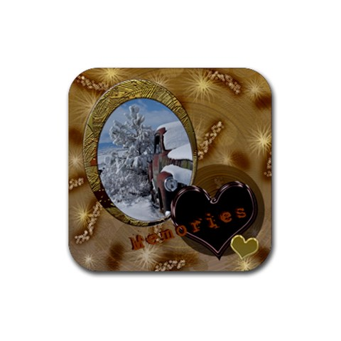 Truck Coaster By Ellan   Rubber Coaster (square)   Gtbc16q55pvu   Www Artscow Com Front